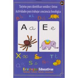 TARJETAS PARA IDENTIFICAR LETRAS Y SONIDOS. Abecedario. Cartas educativas