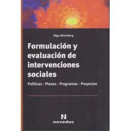 FORMULACIÓN Y EVALUACIÓN DE INTERVENCIONES SOCIALES